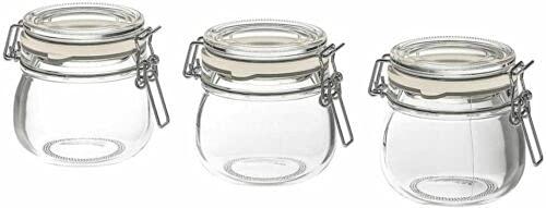 KORKEN Set di tre vasetti per marmellata in gomma con tappo da 13 cl per alimenti IKEA