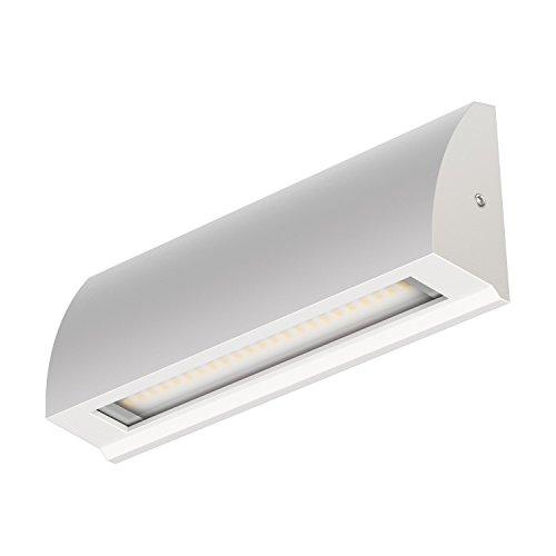 ledscom.de LED de pared Luz de escalera Segin para interior y exterior, plana, montada en la superficie, blanco frío, 400lm