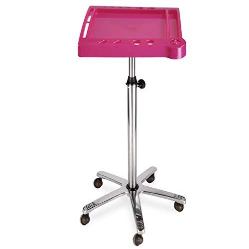 QY- Werkzeugwagen - Beauty Salon Supplies Färben Geschirrablage Regal Haarfärbemittelhalter Farbstoffhalterung Beauty Salon Trolley Werkzeugwagen Trolley (Farbe : Pink)