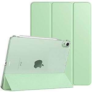 TiMOVO Funda Compatible con Nuevo iPad 10.9 Inch, iPad Air 4.ª Generación 2020, Tableta Cubierta Inteligente Trasera con Despertar/Dormir Auto, Protectora Plegable - Verde
