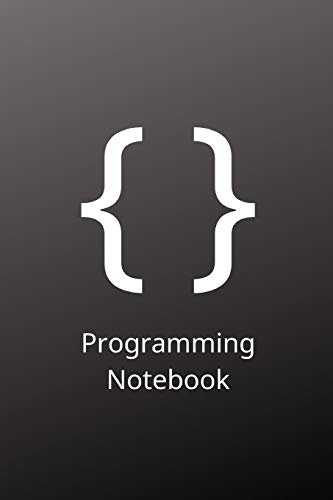 """Programming Notebook: Brackets Themed Programming Notebook/Journal (6"""" X 9"""") 120 Pages"""