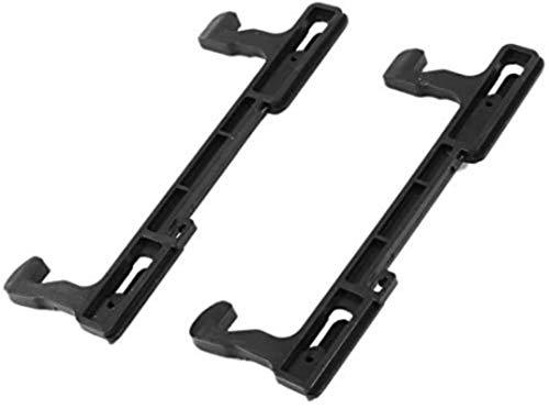 DUDDP Pieza de reparación Pestillo de la Puerta del Horno de microondas para Galanz 13.2cm Larga 2 PCS Negro Accesorios del Horno de microondas