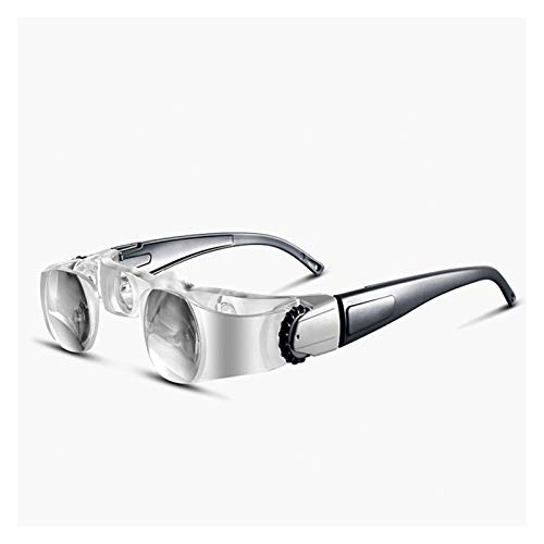 LIXFDJ Kopf-Lupe, 2.1X Binokularlupen Alter Mann lesen fischen Fernsehen Lupe Brillen 0-300 Grad presbyopic Brille + 3D