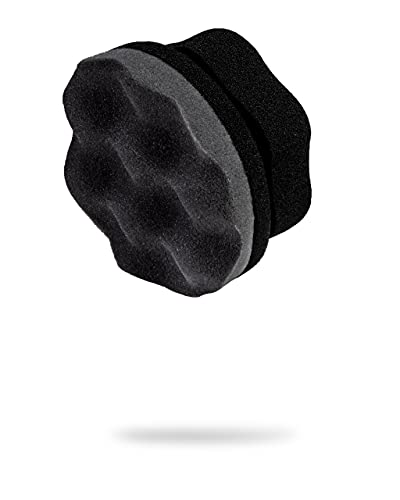 Adam's Pro Tire Hex Grip Applicator - Tire Shine Car Detailing Foam Sponge Tool | Car Cleaning Supplies After Car Wash Tire Cleaner | for Vinyl Rubber & Trim Accessories | Wheel Cleaner Rim (1 Pack)