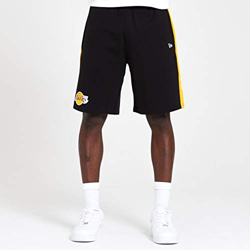 A NEW ERA Era NBA Contrast Short Loslak AGD Pantaloncini, Uomo, Pantalone Corto, 12369787, Nero, M
