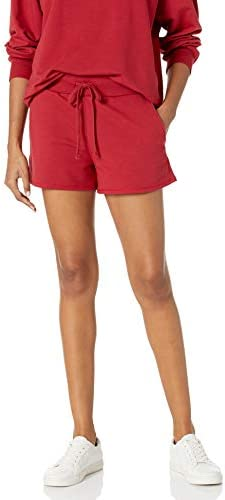 The Drop Women s Elaina Pull On French Terry Sweatshort Rio Red M product image