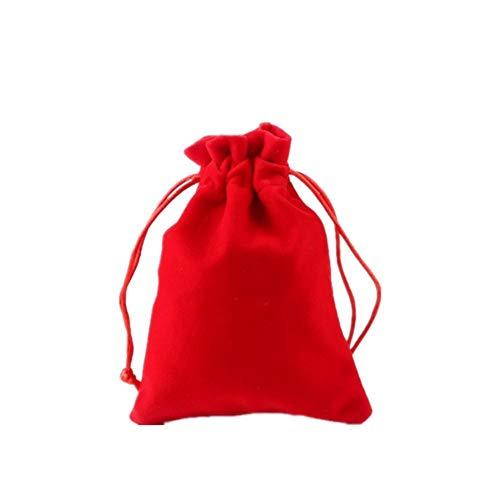 HEELPPO Stoffsack Schmuckbeutel SäCkchen GeschenktüTen Klein Flanell Schmucktasche Doppelter Kordelzug GlüCkstasche Jade Schmuck Aufbewahrungstasche 5 * 7cm