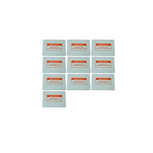 溶接面 自動遮光溶接面 保護プレート 保護シール 11.5�p×9�p 10枚セット 外側 交換用 [waschosen] (クリア 10枚)