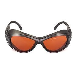 OD 6+ 190nm-550nm / 800nm-1100nm Wavelength Professional Laser Safety Glasses for 405nm, 450nm, 532nm, 808nm,980nm,1064nm, 1080nm, 1100nm Laser Light (Frame Style 2)
