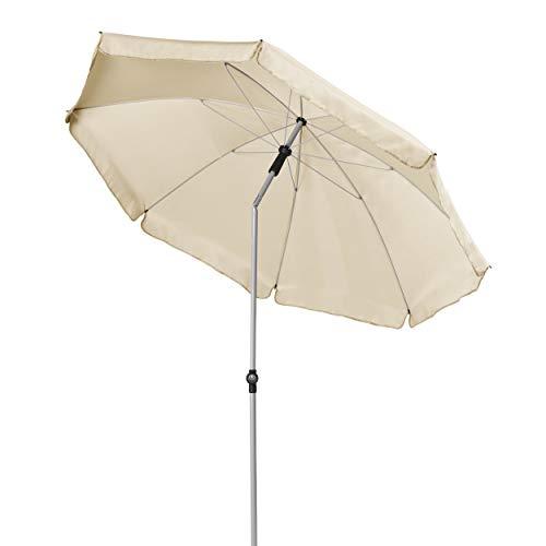 Doppler GS Active ca. 200/8tlg. - Sonnenschirm für Balkon oder Garten - Regenabweisend - Knickbar - ca. 200 cm - Natur