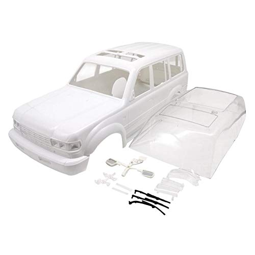 Vbest life Carcasa, Carcasa Blanca LC80 313 Distancia Entre Ejes CX10 TRX4 para 1/10 Escalada RC Piezas de Juguete para automóviles