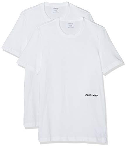Calvin Klein Herren S/S Crew Neck 2PK (Unisex) T-Shirt, Weiß (White 100), X-Large (Herstellergröße: XL)
