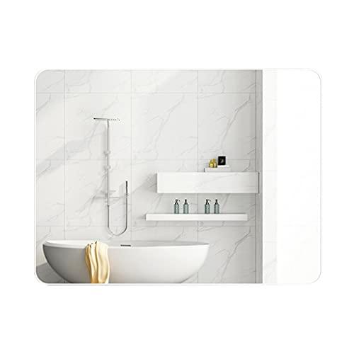 WLN Espejo De Aderezo, Espejo Rectangular Redondeado, Cuelga Espejos De Pared Horizontales O Verticales para Salón De Baño De Vanidad, Espejos Grandes(Size:40x60cm,Color:Blanco)