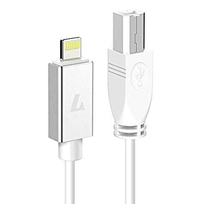LEKATO MIDI Cable USB 2.0 OTG Type B Cable for iPhone, iPad Models for Midi Controller, Midi Keyboard,Electronic Music Instrument, Recording Audio Interface,Etc(3.3FT)