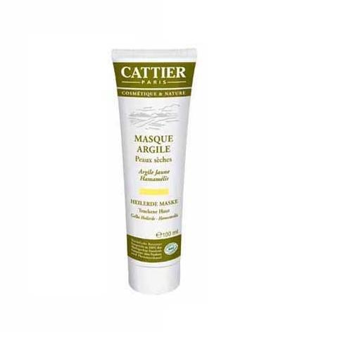 Cattier Gelbe Heilerde Maske für trockene Haut , 2er Pack (2 x 100 ml)