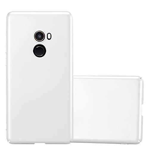 Cadorabo Hülle für Xiaomi Mi Mix 2 - Hülle in Metall Silber – Hardcase Handyhülle im Matt Metal Design - Schutzhülle Bumper Back Hülle Cover