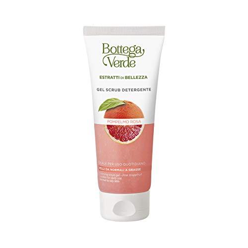 Bottega Verde, Gel scrub detergente Estratti di bellezza - Pompelmo Rosa - ideale per uso quotidiano (100 ml) - pelli da normali a grasse