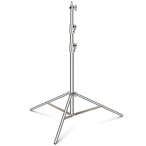 """Neewer 99-260cm Cavalletto Light Stand Regolabile con Adattatore Universale 1/4"""" a 3/8"""" per Softbox, Monoluci e Altri Impianti Fotografici da Studio, in Acciaio Inossidabile"""