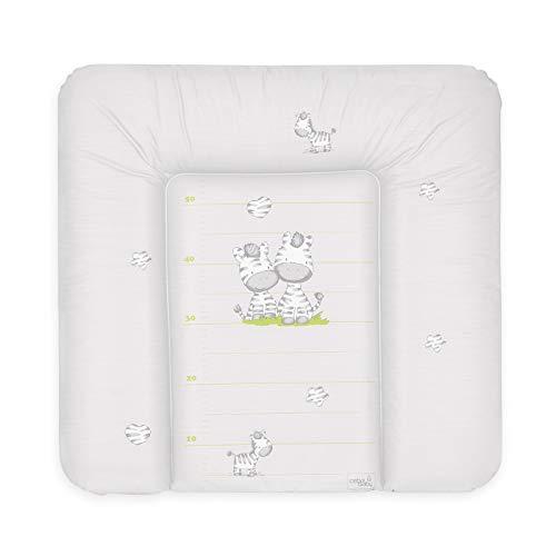 Ceba Baby Wickelauflage Wickelunterlage Wickeltischauflage 70x75 cm Abwaschbar - Grau Zebra 70 x 75 cm