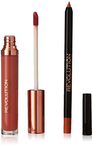 Makeup Revolution - Flüssiger Lippenstift - Retro Luxe Kits Gloss - Pure V4