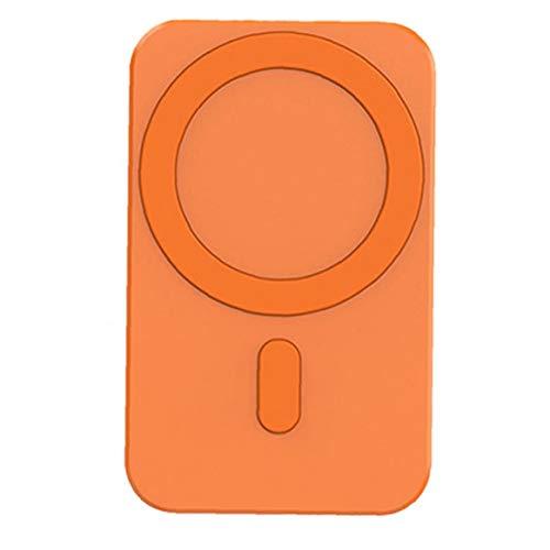 nJiaMe Cargador inalámbrico de Montaje magnético Naranja reemplazo del Soporte inalámbrico de Coche para iPhone 12 Pro Mini MAX MagSafe Compatible para el teléfono