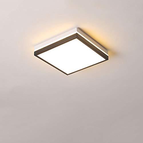 S-L Luz de techo LED 12W araña cuadrada, lámpara moderna sala de estar de techo Lámpara de techo, dormitorio Cocina de superficie Panel de montaje Linterna, Corredor de entrada de interior ultra delga