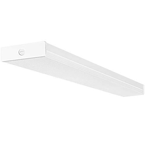 Hykolity 4FT LED Wraparound Light 40W 4 Foot LED Shop Lights for Garage, [2-lamp 32W Fluorescent Equiv.] 4400lm 4000K LED Wrap Light, Flushmount Office Ceiling Light Fixture ETL Listed 1 Pack