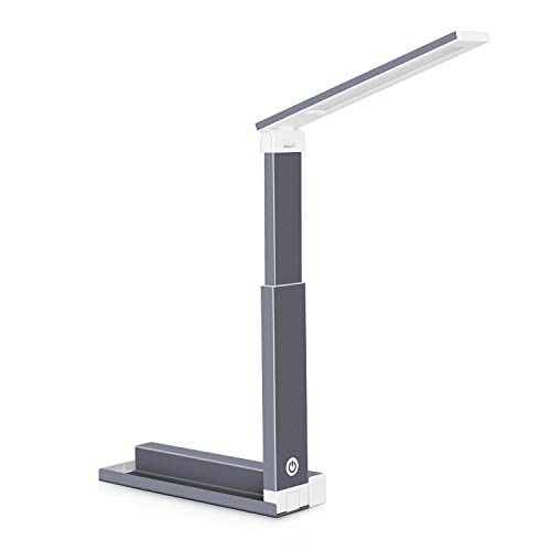 HonShoop LED Desk Lamp EyeCaring Table Lamp with Smart Touch Control Retractable and Foldable Portable 3 Levels of Brightness Dimmable Desk Light for Dorm Study Office Bedroom Camping