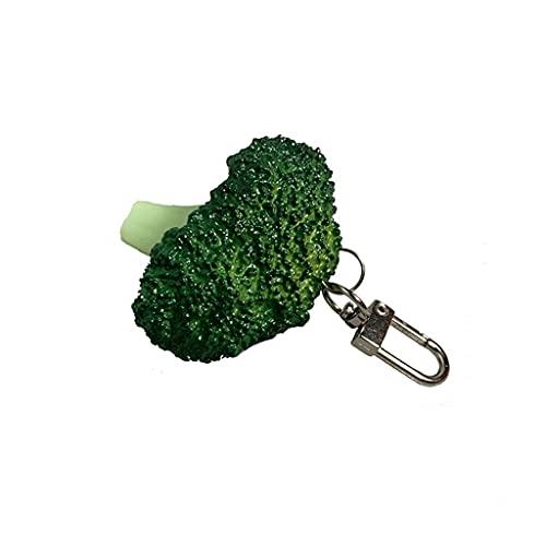 Brokuł wisiorek brelok, symulacja jedzenie wisiorek brelok PCW i metal samochód brelok model jedzenie zabawny prezent (kolor: Zielony, rozmiar: mały)