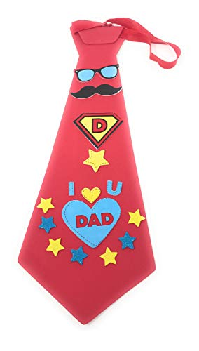 Bulk Pack of 10 Fun Tie Crafts for Dad - Ideal for Birthdays, Christmas, and Father's Day