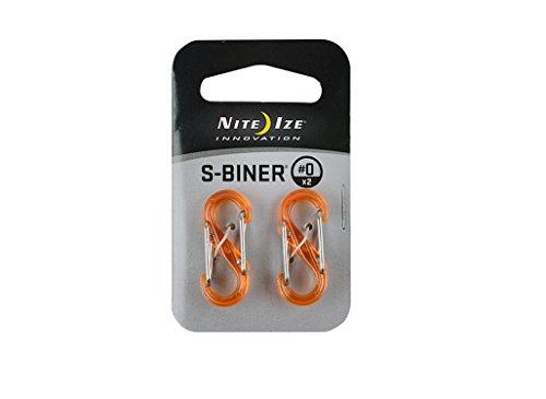 NITEIZE(ナイトアイズ) エスビナー プラスチック カラビナ クリアー #0 2個入 オレンジ SBP0-2PK-19T (日本正規品)