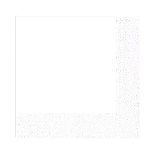 Caspari Lot de 20 Serviettes de Table en Papier Blanc