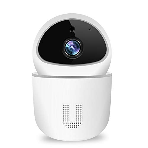 1080P WLAN Überwachungskamera Innen, Topsics IP Kamera Outdoor WiFi mit Bewegungserkennung, Nachtsicht, Zwei-Wege-Audio, Baby Camera/Hundekamera, Unterstützung 128G SD-Karte, Kompatibel mit Alexa