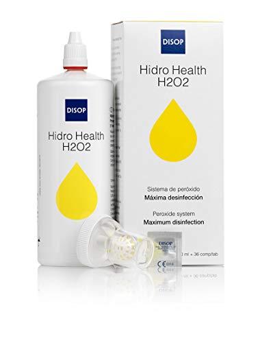 Hidro Health H2O2 Peroxidlösung Kontaktlinsenreiniger mit Farbindikator, Maximale Desinfektion Pflegemittel zur Reinigung jeder Art von Kontaktlinsen, Ohne Konservierungsmittel, 360 ml