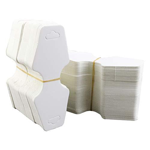 Twdrer 400 piezas en blanco papel kraft joyería collar pulsera arete corbata para colgar tarjetas de precio con agujero 10,5 cm x 4,5 cm