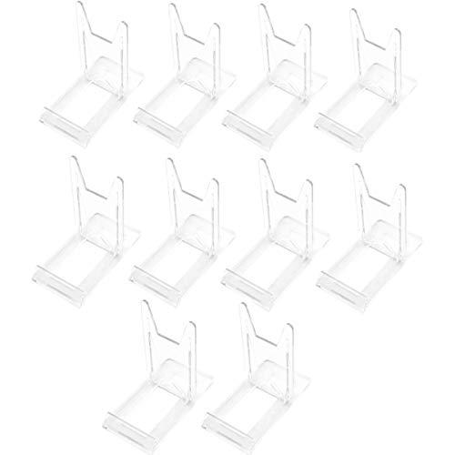 JZK 10 x plástico Deslizamiento Ajustable Pantalla Soporte Caballete Soporte para Platos para Tarjeta de Mesa Tarjeta del Lugar Foto teléfono para Boda cumpleaños decoración hogareña