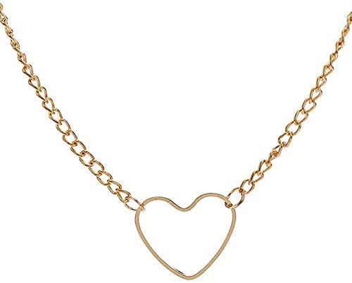 Yiffshunl Collar de Moda con Colgante en Forma de corazón, Collar de Cristal, Collar de Cadena de joyería única para la Playa de Vacaciones para Mujer