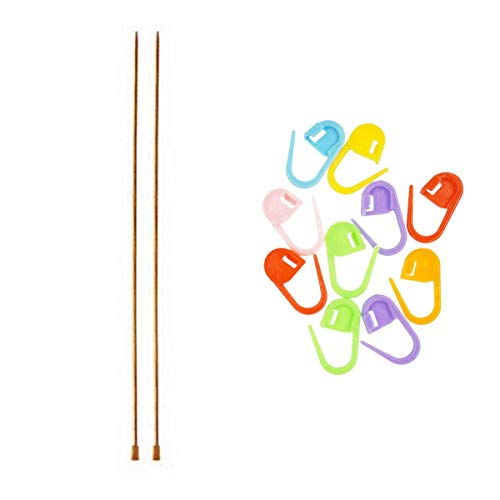 Knitter s Pride Knitting Needles Dreamz Single Point 10 inch (25cm) Size US 2.5 (3.0mm) Bundle with 10 Artsiga Crafts Stitch Markers 200401