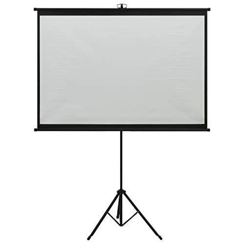 vidaXL Pantalla de Proyección con Trípode Proyector Cine Casa...