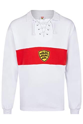 Score Draw Herren Retro - Trikot VfB Stuttgart | Retrotrikot 1928 in Weiß, Größe: XXXL