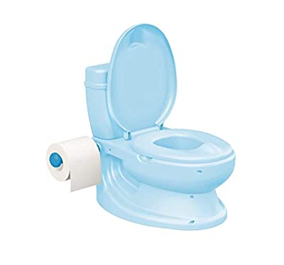 Toylet Potty Training Toilet with Comfy Potty Chair Training Seat Cover, Tank Storage & Paper Roll Holder is A Training Potty for Girls & Boys Or Potty Chair (Blue)