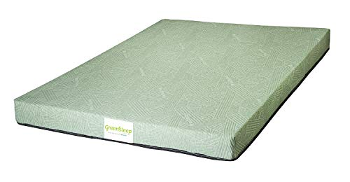 Restolex Greensleep Premium Natural Latex with Rubberised Coir Mattress 5 inches Queen Size - (75 x 60 x 5) Color : Green