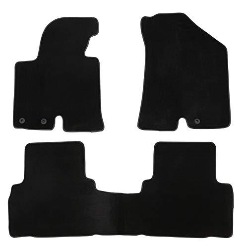 DBS Tapis de Voiture - sur Mesure pour IX35 (2009-2015) - 3 pièces - Tapis de Sol antidérapant pour Automobile - Moquette Premium