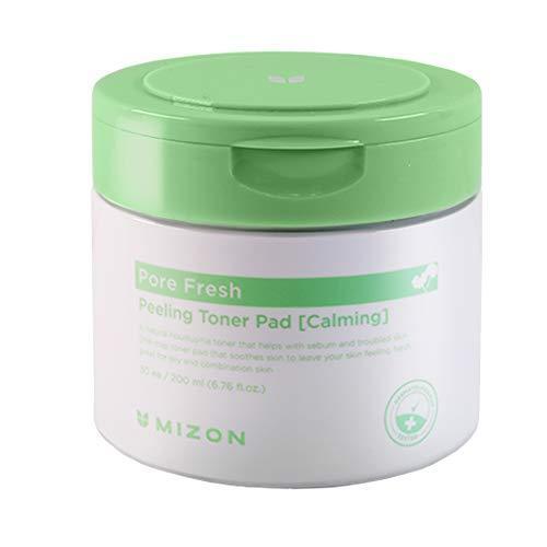 Mizon AHA BHA PHA Clear Face Pads, Exfoliating Toner Pads, Double Sided Peeling Toner Pad, Korean Facial Cleansing Pads, Hydrating and Pore Care, Smooth Facial Exfoliator (Calming)