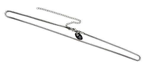 Quadrat Magnet Halskette Elegante Edelstahl Glieder Energetix 4you 1235 Uni Silber mit Magnetplättchen 419 Länge universal 40 bis 50 cm