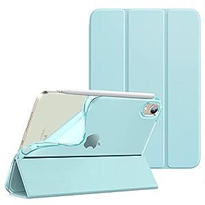 """iPad Mini6 ケース 2021モデル Dadanism iPad Mini 第6世代 保護ケース iPad 8.3 インチ スマートカバー 透明感 薄型 PU レザー キズ防止 開閉式 三つ折薄型 TPU素材 スタンド機能 衝撃吸収 オートスリープ機能付き Apple Pencil2充電に対応 スカイブルー"""""""