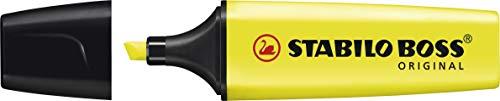 Marcador de Texto Stabilo BOSS, Amarelo, Blister c/1 unidade