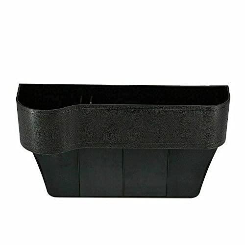 Organizador de asiento de coche multifuncional, accesorios de coche, almacenamiento de colección integrado para coche, caja de almacenamiento de poliuretano, (negro, izquierda)