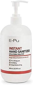 E-PU Hand Sanitizer with Aloe Gel Moisturizing, 16.9 Oz