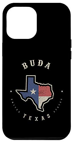 iPhone 12 Pro Max Vintage Buda Texas State Flag Map Souvenir Gift Case